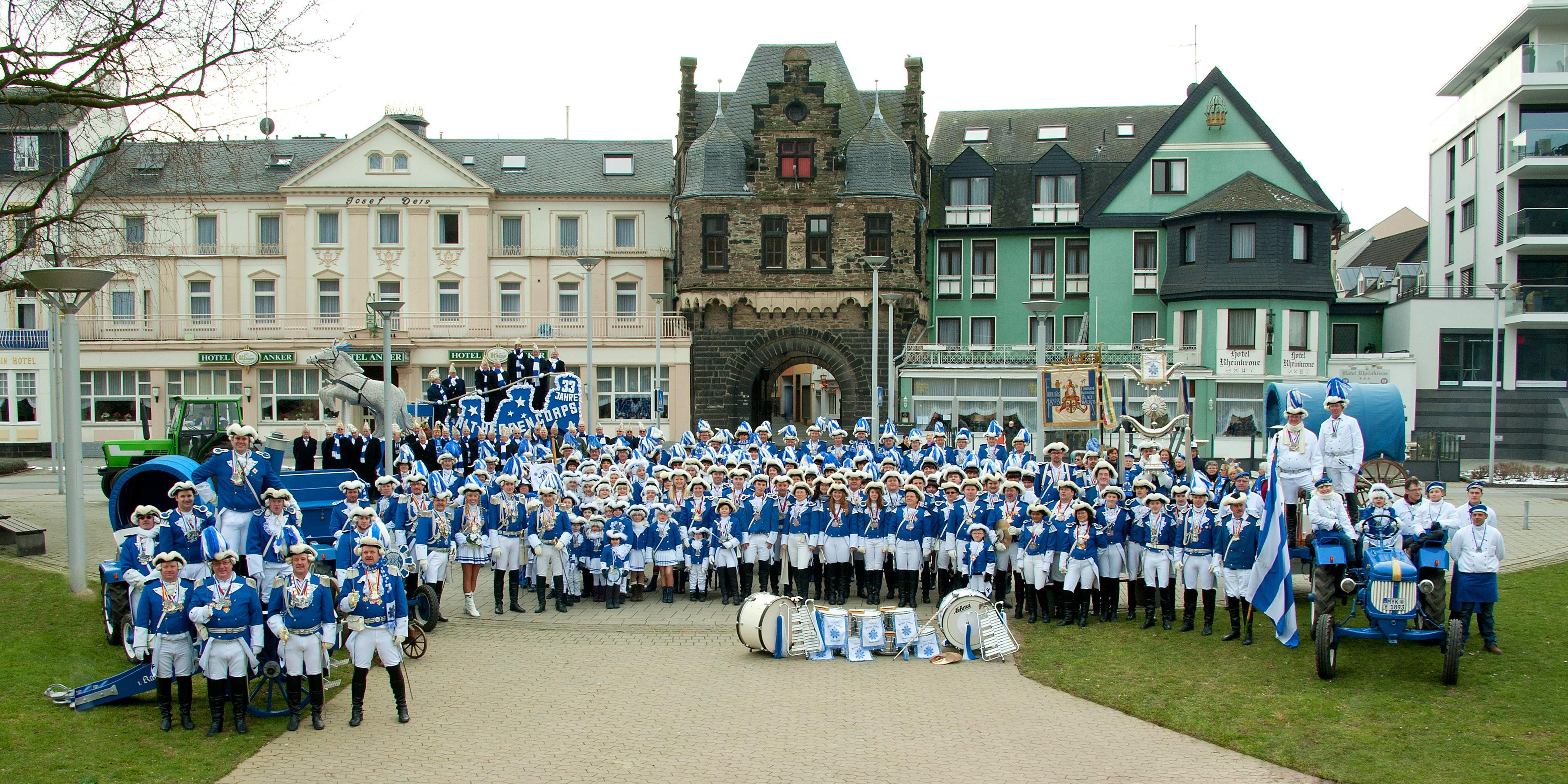 Das uniformierte Corps im Jubiläumsjahr 2014 (11x11 Jahre)